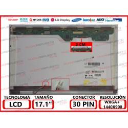"PANTALLA 17.0""-17.1"" LCD (1440x900) 1CCFL CONECTOR SUPERIOR DERECHA"