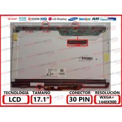 """PANTALLA 17.0""""-17.1"""" LCD (1440x900) 1CCFL 4 ANCLAJES SUPERIOR/INFERIOR (CON INVERTER INCLUIDO)"""