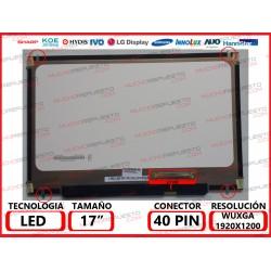 """PANTALLA 17.0"""" LED (1920x1200) SLIM 4 ANCLAJES SUPERIOR/INFERIOR CONECTOR BAJO DERECHA"""