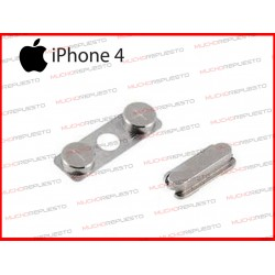 PACK DE BOTONES PARA IPHONE 4 PLATEADOS