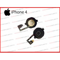 BOTON HOME DE REPUESTO IPHONE 4 NEGRO CON FLEX