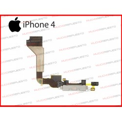 CONECTOR DE CARGA CON FLEX IPHONE 4 BLANCO