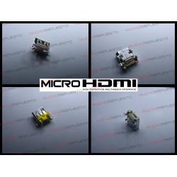 CONECTOR MICRO HDMI HEMBRA SMD PARA SOLDAR (Mod16)