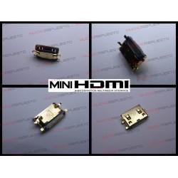 CONECTOR MINI HDMI HEMBRA SMD PARA SOLDAR (Mod 21)