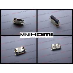 CONECTOR MINI HDMI HEMBRA SMD PARA SOLDAR (Mod 22)