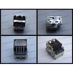 CONECTOR USB TIPO A DOBLE SMD PARA SOLDAR (Mod 001