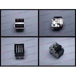 CONECTOR USB TIPO A DOBLE SMD PARA SOLDAR (Mod 003