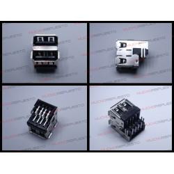 CONECTOR USB TIPO A DOBLE SMD PARA SOLDAR (Mod 004