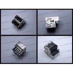 CONECTOR USB TIPO A DOBLE SMD PARA SOLDAR (Mod 006