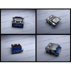 CONECTOR USB TIPO A SMD PARA SOLDAR (Modelo 019)