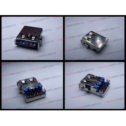 CONECTOR USB TIPO A SMD PARA SOLDAR (Modelo 020)