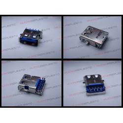 CONECTOR USB TIPO A SMD PARA SOLDAR (Modelo 021)