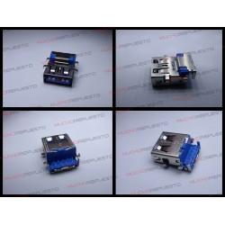 CONECTOR USB TIPO A SMD PARA SOLDAR (Modelo 025)