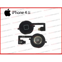 BOTON HOME DE REPUESTO IPHONE 4S NEGRO CON FLEX