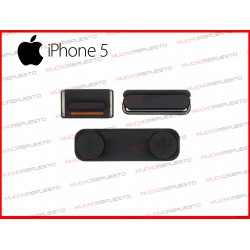PACK DE BOTONES PARA IPHONE 5 NEGROS