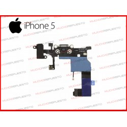 CONECTOR DE CARGA/DATOS+AUDIO IPHONE 5 NEGRO