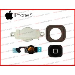 BOTON HOME COMPLETO IPHONE 5 NEGRO (4 PIEZAS)