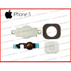 BOTON HOME COMPLETO IPHONE 5 BLANCO (4 PIEZAS)