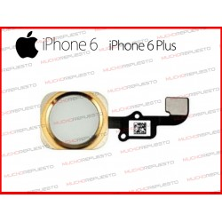 BOTON HOME INICIO MENU IPHONE 6 / 6 PLUS ORO DORADO CON FLEX