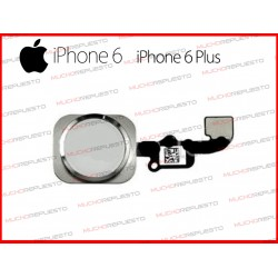 BOTON HOME INICIO MENU IPHONE 6 / 6 PLUS PLATA PLATEADO DORADO CON FLEX