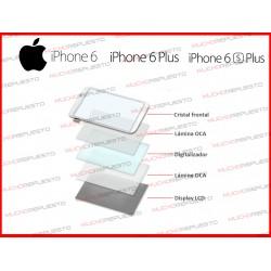 10 LAMINAS PEGAMENTO OCA PARA PANTALLA CRISTAL-TACTIL-LCD IPHONE 6/6S