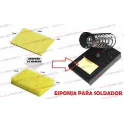 2 unidades ESPONJA LIMPIADORA PUNTA DE SOLDADOR 50x35mm