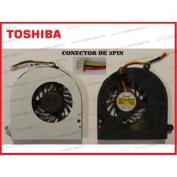 VENTILADOR TOSHIBA Satellite C650/C655/L650/L655 (Modelo 2) CONECTOR 3PIN