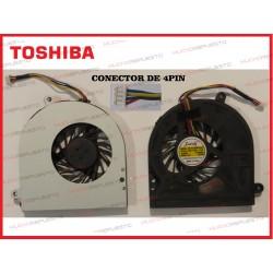 VENTILADOR TOSHIBA Satellite C650/C655/L650/L655 (Modelo 1) CONECTOR 4PIN