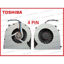 VENTILADOR TOSHIBA C850/C855/C870/C875/L850 (4PIN)