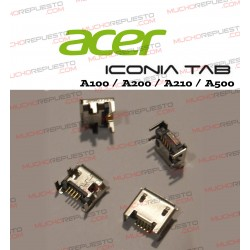 CONECTOR USB TABLET ACER ICONIA A100/A200/A210/A500