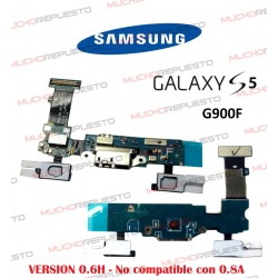 CABLE FLEX CONECTOR DE CARGA MICRO USB + BOTONES SAMSUNG GALAXY S5 G900F (ver. 0.6H)