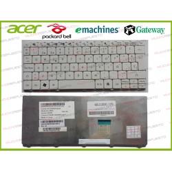 TECLADO ACER Aspire One 521/522/532/D255/D260/D270/NAV70/PAV70/ZE6/ZH9 Blanco
