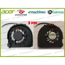 VENTILADOR PACKARD BELL EasyNote MS2273/SJV50/ENTJ65 /Gateway NV54/NV58 (3PIN)