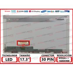 "PANTALLA 17.3"" LED (1600x900) CONECTOR BAJO IZQUIERDA 30PIN"