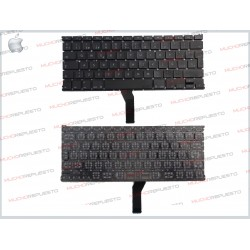 "TECLADO APPLE/MAC MACBOOK AIR A1369 / A1466 13"" Negro (Sin Marco)"