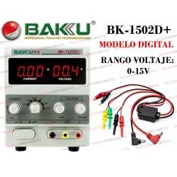 FUENTE ALIMENTACION DIGITAL REGULABLE 15W BAKU-1502D+