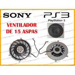 VENTILADOR INTERNO PS3 (MODELO DE 15 ASPAS)