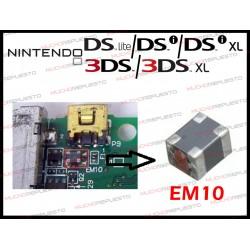FILTRO / BOBINA DE CARGA EM10 PARA NDS/NDSL (Lite)/ DSi/DSi XL /3DS/3DS XL