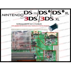FUSIBLE (F1/F2) PARA NDS/NDSL /DSi/DSi XL /3DS/3DS XL