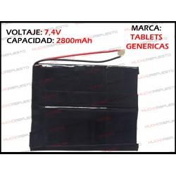 BATERIA TABLET GENERICA 2800mAh 7.4V (Valida para las marcas genericas)