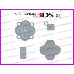 GOMAS DE REPUESTO BOTONES NINTENDO 3DS XL