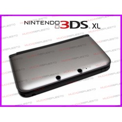 CARCASA NINTENDO 3DS XL COLOR PLATA