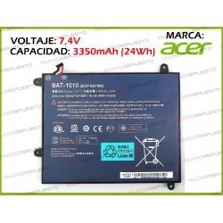 "BATERIA TABLET ACER Iconia Tab A500 10.1"" 7.4V 3350mAh"