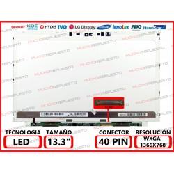 """PANTALLA 13.3"""" LED (1366x768) SLIM CONECTOR BAJO DERECHA 40PIN"""