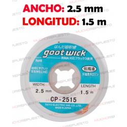 CINTA DESOLDADORA GOOT WICK CP-2515 (2.5mm x 1.5m)
