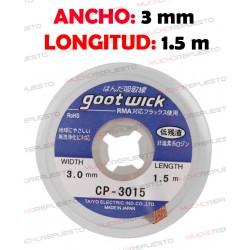 CINTA DESOLDADORA GOOT WICK CP-3015 (3mm x 1.5m)