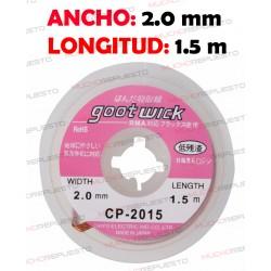 CINTA DESOLDADORA GOOT WICK CP-2015 (2.0mm x 1.5m)