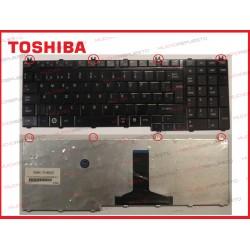TECLADO TOSHIBA A500/L350/L500/P300/P500 NEGRO (BRILLO)