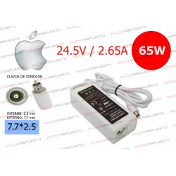 CARGADOR Apple / Mac 24.5V 2.65A 65W 7.7*2.5