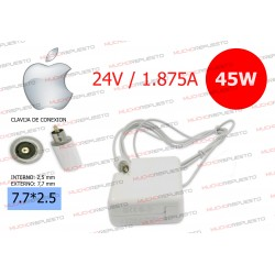 CARGADOR Apple / Mac Ibook,Power G4,G3 24V 1.875A 45W